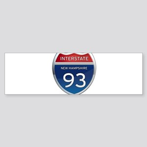 New Hampshire Interstate 93 Bumper Sticker