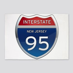 New Jersey Interstate 95 5'x7'Area Rug