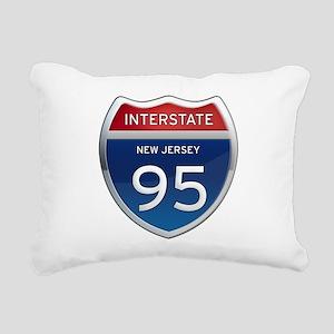 New Jersey Interstate 95 Rectangular Canvas Pillow
