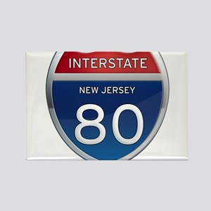 New Jersey Interstate 80 Magnets