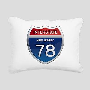 New Jersey Interstate 78 Rectangular Canvas Pillow