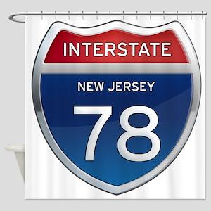 New Jersey Interstate 78 Shower Curtain