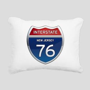 New Jersey Interstate 76 Rectangular Canvas Pillow
