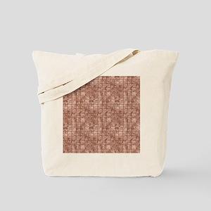 Beige and bronze tile art Tote Bag