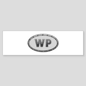 WP Metal Bumper Sticker