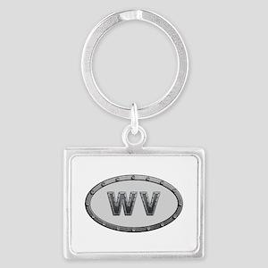 WV Metal Landscape Keychain