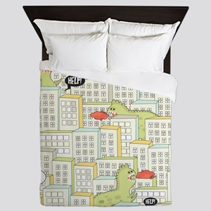 Monsters Attack City Queen Duvet