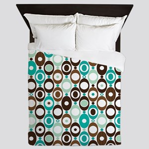 Retro Circles Queen Duvet