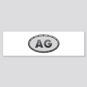 AG Metal Bumper Sticker