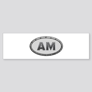 AM Metal Bumper Sticker
