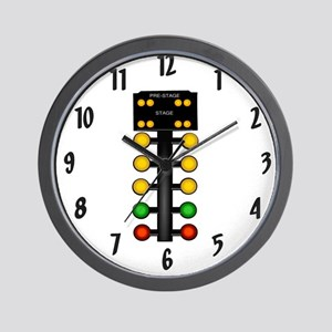 Drag Racing Christmas Tree Wall Clock