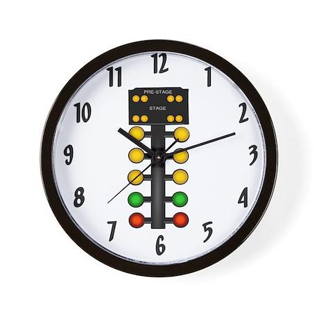Drag Racing Christmas Tree Wall Clock By Dragracinggifts