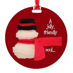 Snowman Jolly Soul Ornament