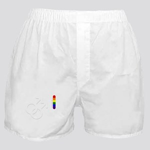 Gay pride rainbow love flag male Boxer Shorts