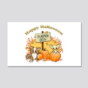 Chihuahua Halloween 20x12 Wall Decal
