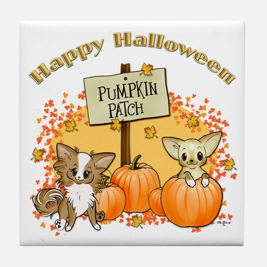 Chihuahua Halloween Tile Coaster