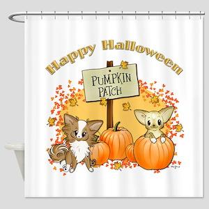 Chihuahua Halloween Shower Curtain