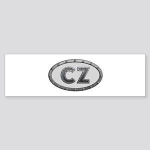 CZ Metal Bumper Sticker