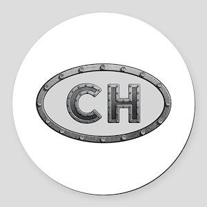 CH Metal Round Car Magnet