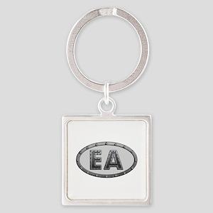 EA Metal Square Keychain