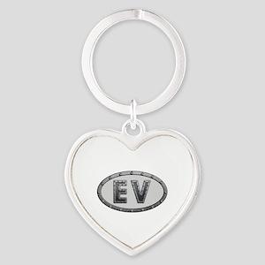 EV Metal Heart Keychain