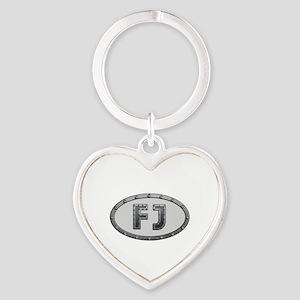 FJ Metal Heart Keychain