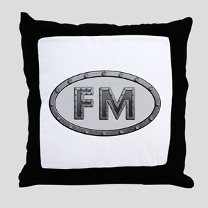 FM Metal Throw Pillow