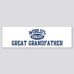 Coolest Great Grandfather Bumper Sticker