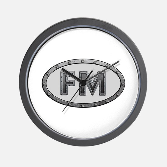 FM Metal Wall Clock