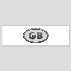 GB Metal Bumper Sticker