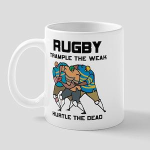 Trample The Weak Rugby Mug