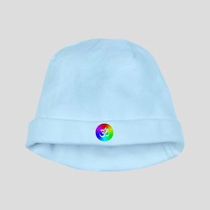 Om On Rainbow baby hat