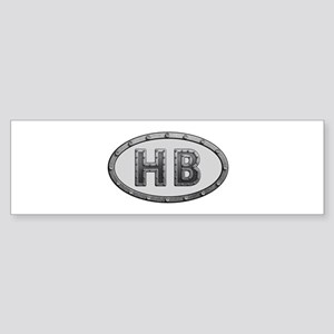 HB Metal Bumper Sticker