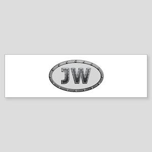 JW Metal Bumper Sticker