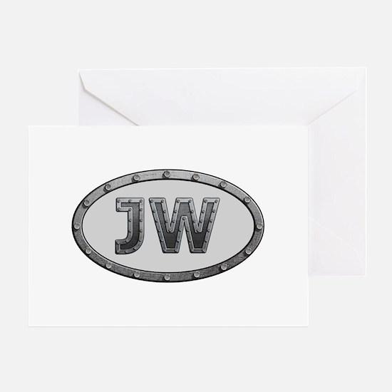 JW Metal Greeting Card