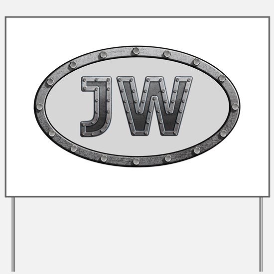 JW Metal Yard Sign