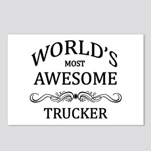 World's Most Awesome Trucker Postcards (Package of