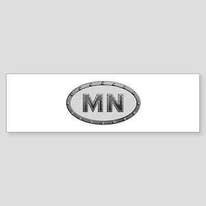 MN Metal Bumper Sticker