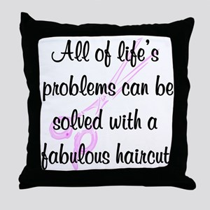 TOP HAIR STYLIST Throw Pillow