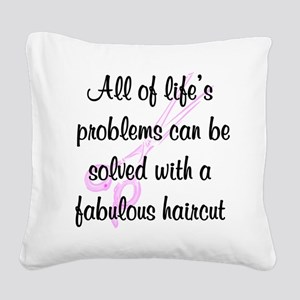 TOP HAIR STYLIST Square Canvas Pillow