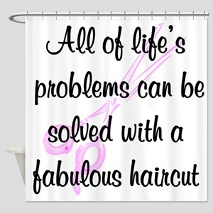 TOP HAIR STYLIST Shower Curtain