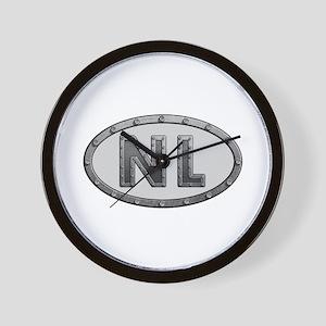 NL Metal Wall Clock