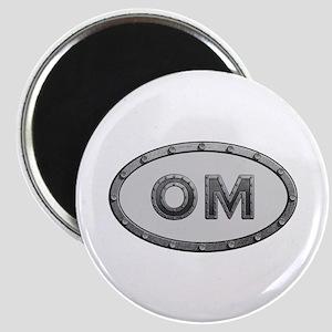 OM Metal Round Magnet