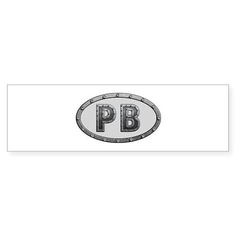 PB Metal Bumper Sticker