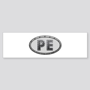 PE Metal Bumper Sticker