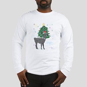 Santa Llama Long Sleeve T-Shirt
