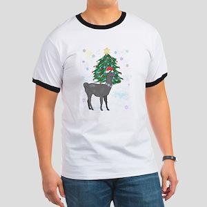 Santa Llama Ringer T