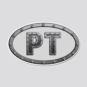 PT Metal 20x12 Oval Wall Decal