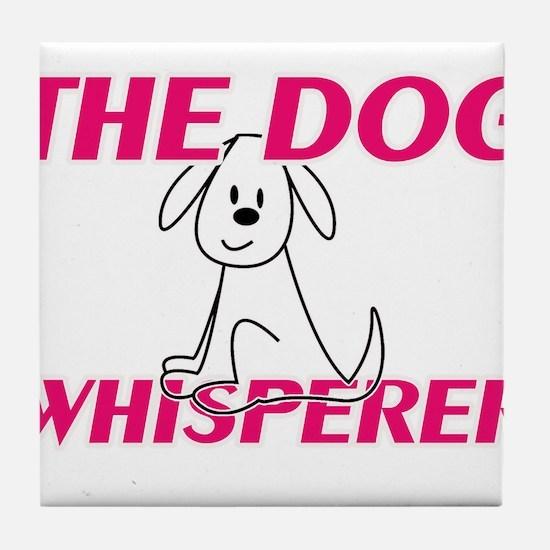 The Dog Whisperer Tile Coaster