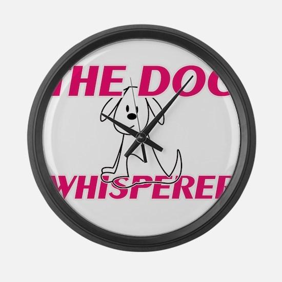 The Dog Whisperer Large Wall Clock
